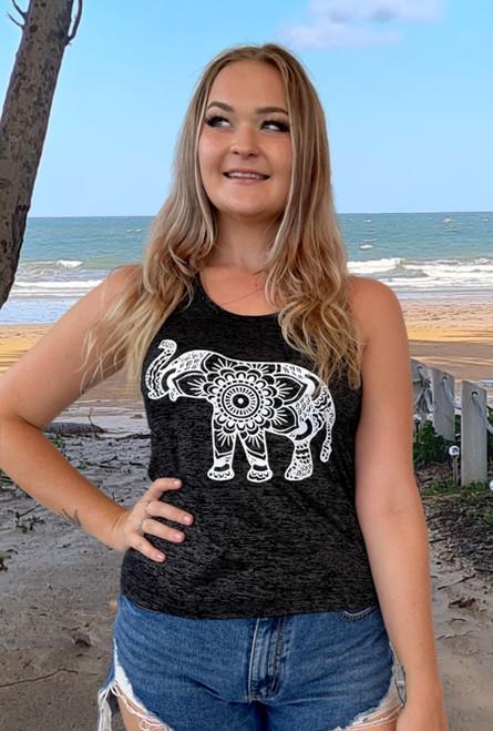 12994 Ash Y back singlet Elephant Ladies summer top