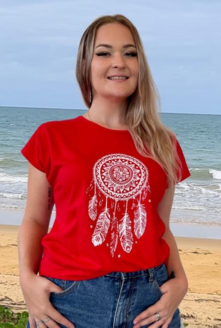 Tori Ladies Top Dreamcatcher Red