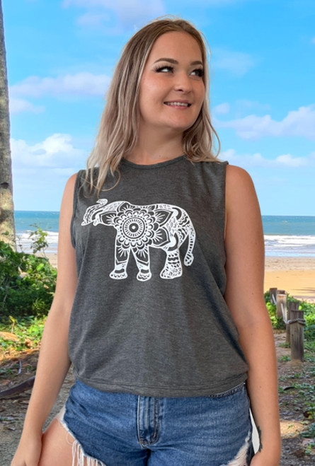 12964 Robyn Tank Top Elephant