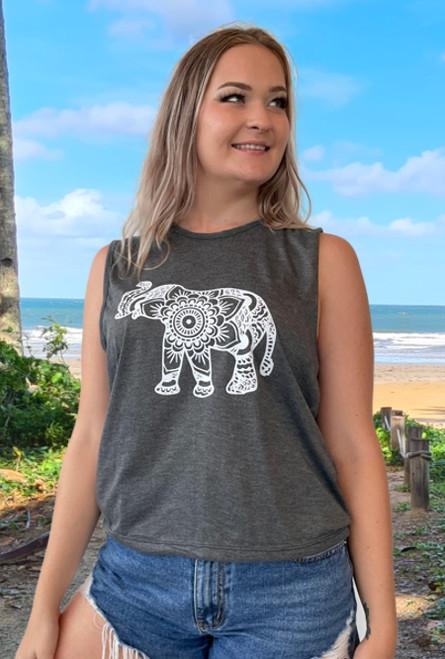 Robyn Tank Top Elephant Black