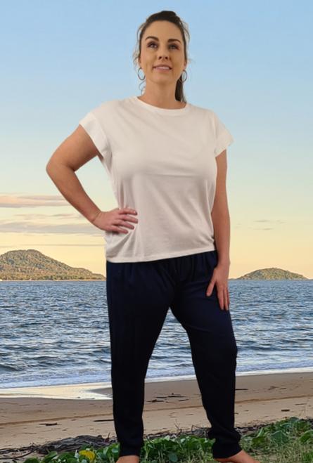 Navy Full length pocket Pants