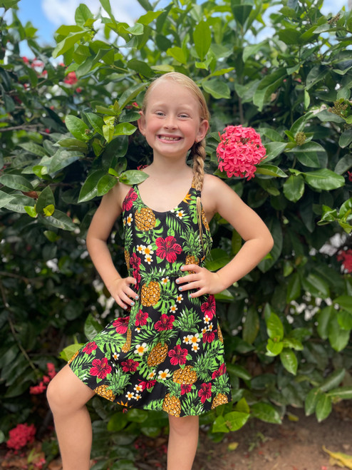 18969 Erin Baby Doll Dress Pineapple *SALE SALE SALE*