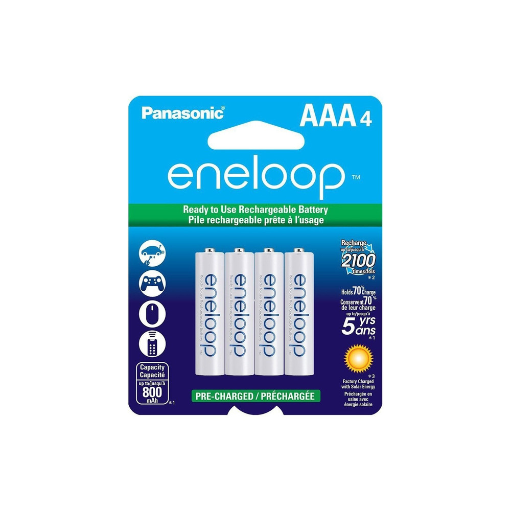 BK-4MCCA4BF - Panasonic Eneloop Low Discharge AAA 800mA (4pk)