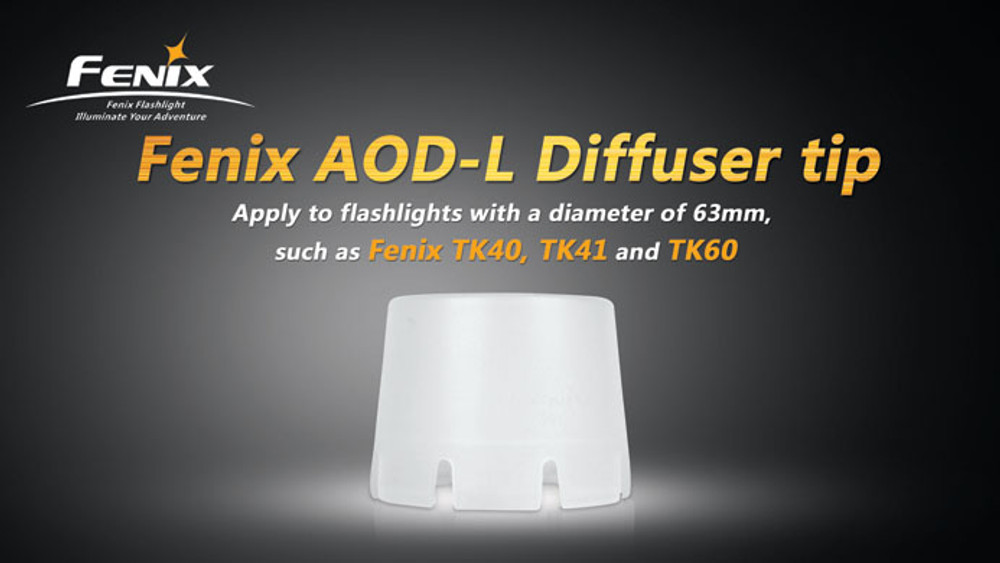 AOD-L - Fenix Diffuser Tip (Transparent - 63mm)