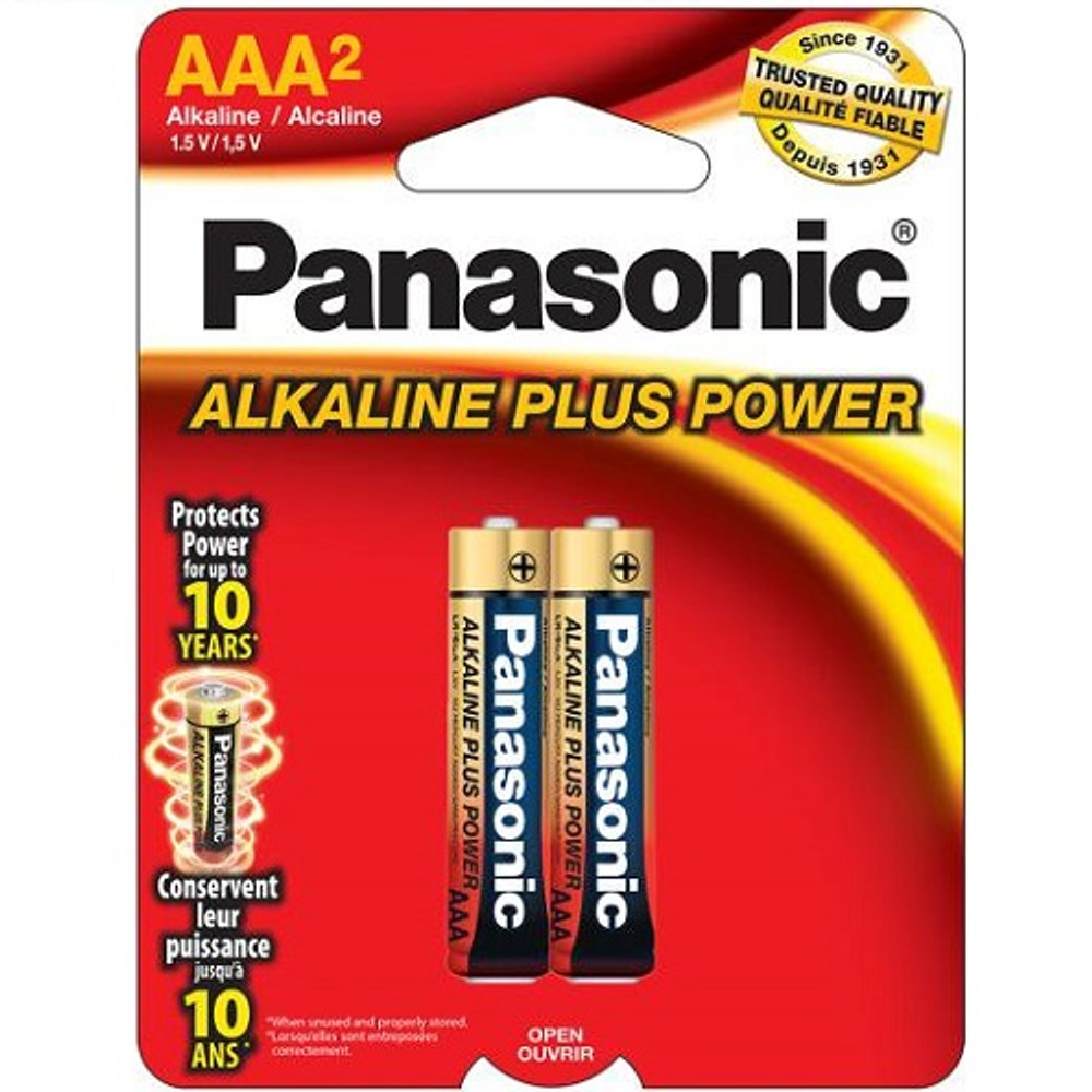 AM4PA2B - Panasonic Alkaline Plus AAA (2 pack)
