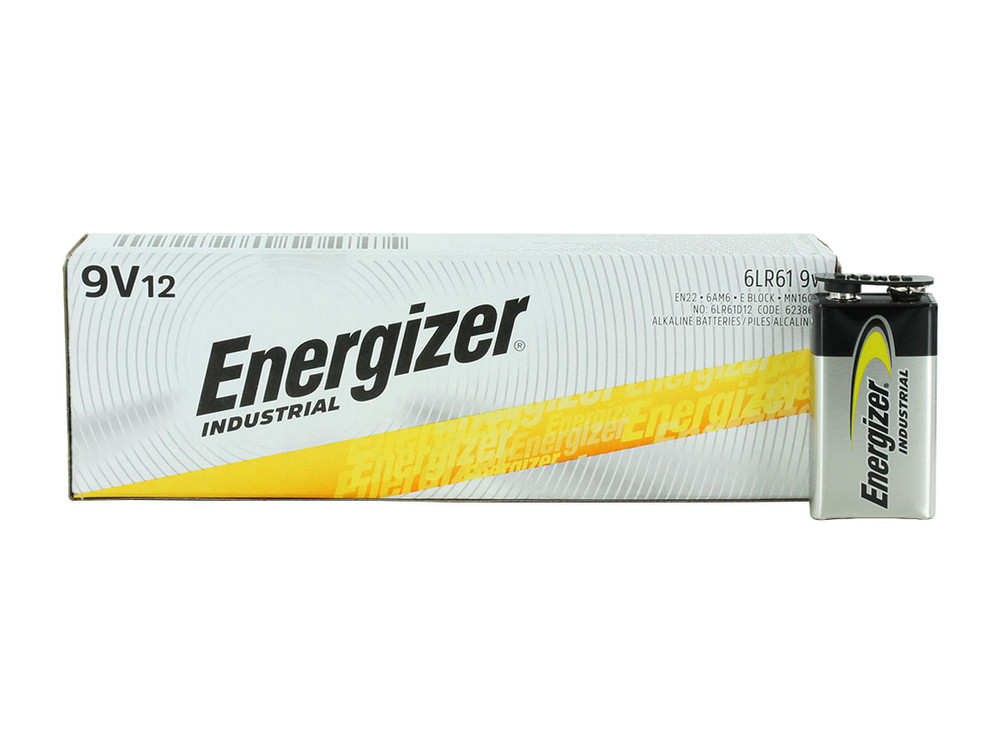 EN22 - Energizer Industrial Alkaline 9 Volt (12-box)