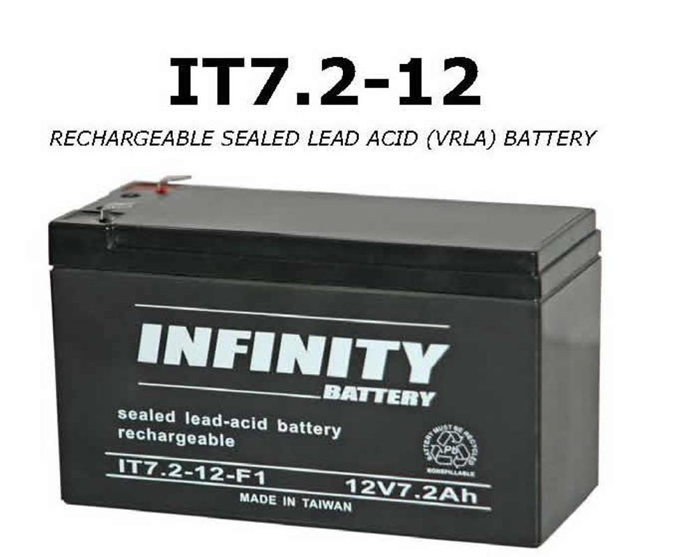 IT 7.2-12 F1 - GS Infinity 12volt - 7.2Ah - F1