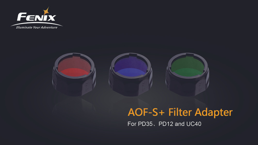 AOF-S+ Red - Fenix Filter adapter for PD35, PD12 and UC40