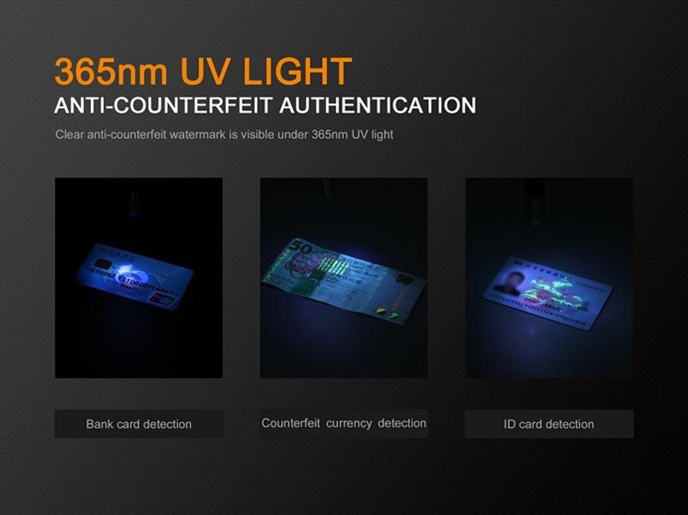 Fenix LD02  V2.0  Penlight + UV light (70 Lumens)
