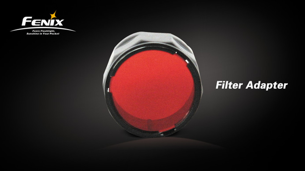 AOF-S Red - Fenix Filter Adapter for LD10, LD20, LD12, LD22, PD22