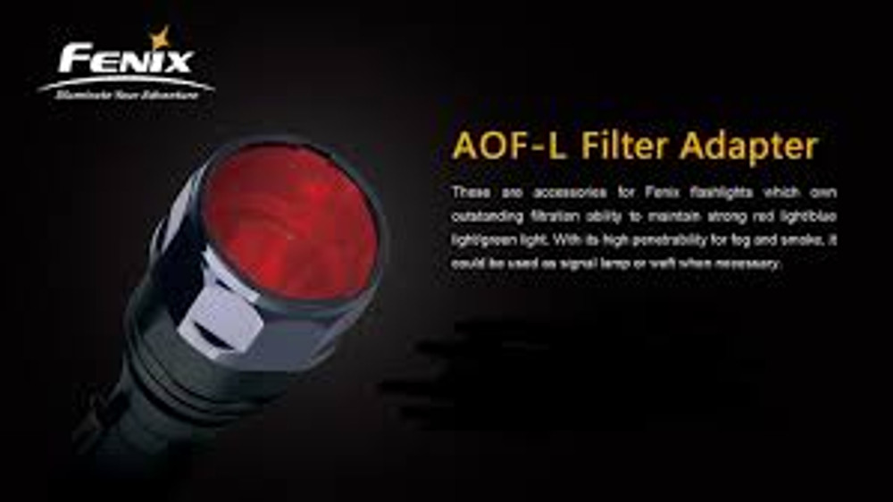 AOF-L Red - Fenix Filter Adapter for TK22, LD41, RC15, E40, E50