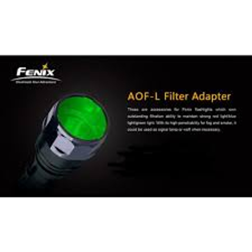 AOF-L Green - Fenix Filter Adapter for TK22, LD41, RC15, E40, E50