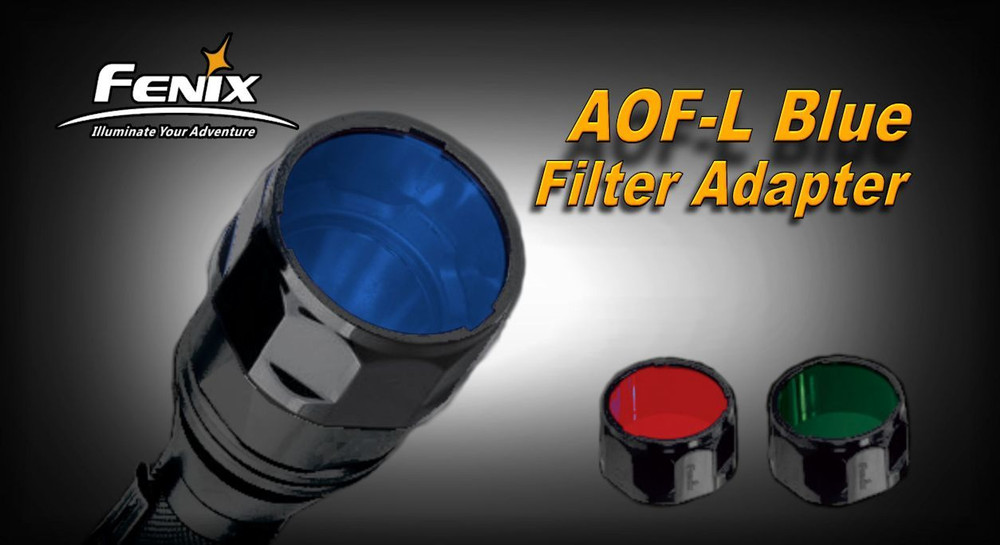 AOF-L Blue - Fenix Filter Adapter for TK22, LD41, RC15, E40, E50