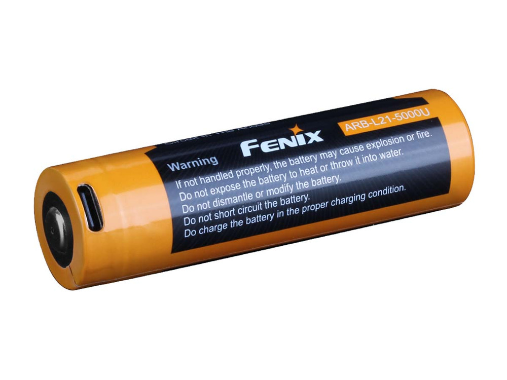 ARB-L21-5000U [21700] - Fenix USB-C Rechargeable Battery - Li-ion 3.6V 5000mAh