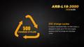 ARB-L18-3500 [18650] - Fenix Rechargeable - Li-ion 3.6V 3500mA