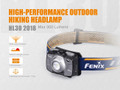 HL30-2018 (Grey) - Fenix 300 Lumen headlamp (w/2 AA batteries)