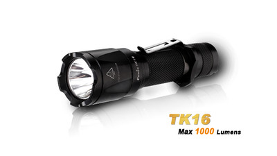 Fenix TK16 Flashlight - 1000 Lumens. 18650/2xCR123A