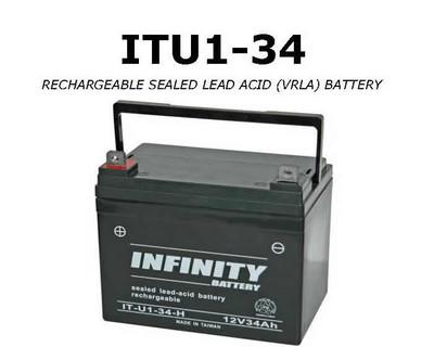 IT U1-34 - GS Infinity 12volt - 34Ah - U1
