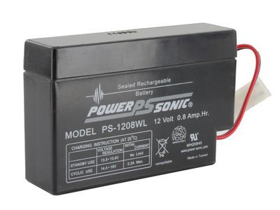 PS-1208 WL - Powersonic 12 volt - 0.8Ah - PLUG
