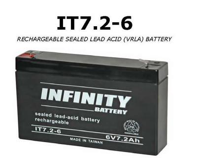 IT 7.2-6 F1 - GS Infinity 6volt - 7.2Ah - F1
