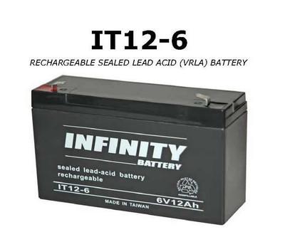IT 12-6 F1 - GS Infinity 6volt - 12Ah - F1