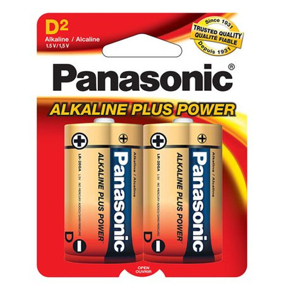 AM1PA2B - Panasonic Alkaline Plus D (2 pack)