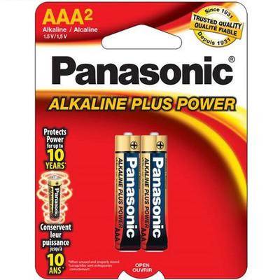 AM4PA2B - Panasonic Alkaline Plus AAA (2 pack)