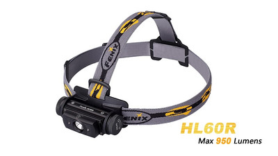 Fenix HL60R Black - Rechargeable LED Headlamp - 950 Lumens
