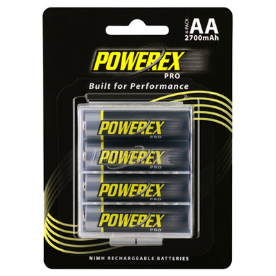 MHRAA4PRO - Powerex Pro Rechargeable AA NiMH Batteries (2700mAh) - 4 pack