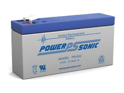 PS-832 - Powersonic 8 Volt - 3.2Ah - F1