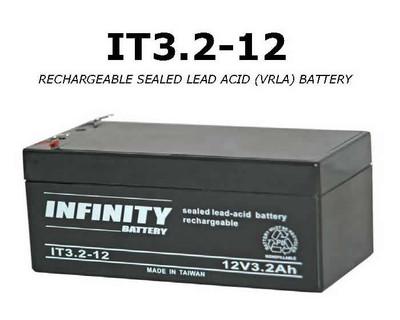 GS Infinity - IT 3.2-12 F1 - 12volt - 3.2Ah - F1