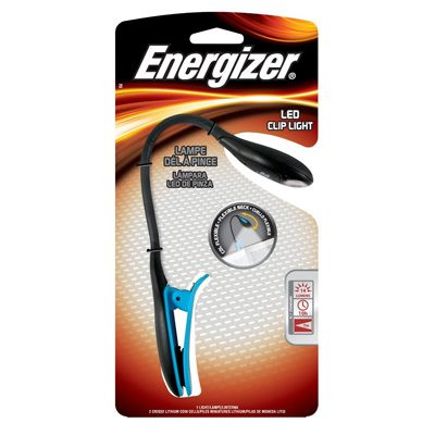 FNL2BU1CS - Energizer LED Reading Booklight with Flexible Neck - 11 Lumens - Includes 2 x CR2032s