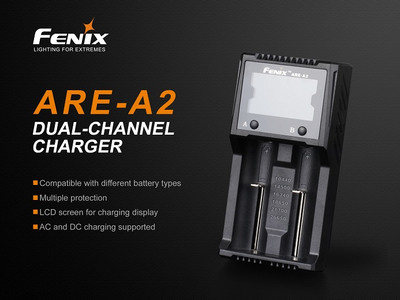 ARE-A2 - Fenix Dual Bay Smart Battery Charger