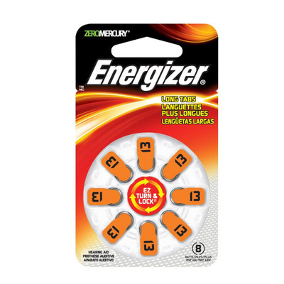 AZ13DP-8 - Energizer Hearing Aid Batteries - 8 pack size 13