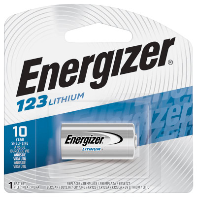 CR123A-EN-C1 - Energizer Lithium 3V 1500mAh  (1-Carded)