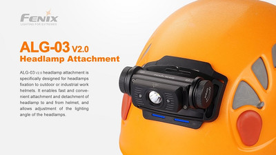 ALG-03 V2.0 - Fenix Headlamp Helmet Attachment