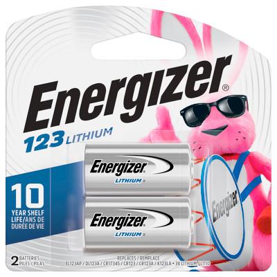 CR123A-EN-C2 - Energizer  EL123APB2 Lithium 3V 1500mAh  (2 piece Carded)