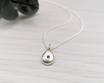 Silver Mini Pebble Necklace