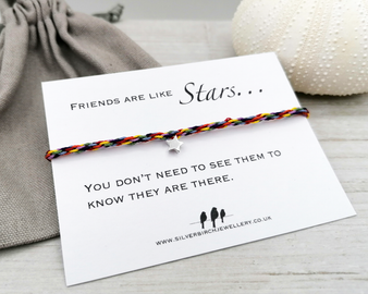 Rainbow Silver Star Bracelet