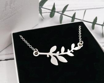 Silver Botanical Necklace