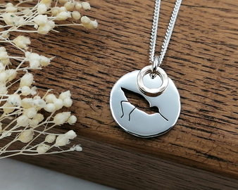 Silver & Gold Avocet Necklace