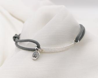 POTM Hammered Bar Bracelet