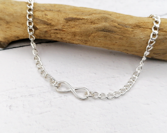 Infinity Silver Anklet