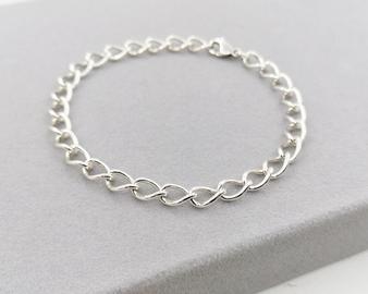 Chunky Silver Curb Bracelet