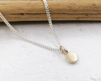 Solid Gold Dot Necklace