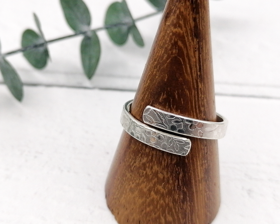 Floral Wrap Silver Ring