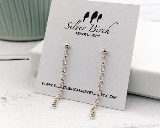Silver Chainlink Earrings