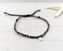 Dark Grey Silver Star Bracelet