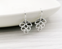 Silver Open Leaf Earrings