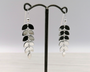 Silver Drop Leaf Earrings